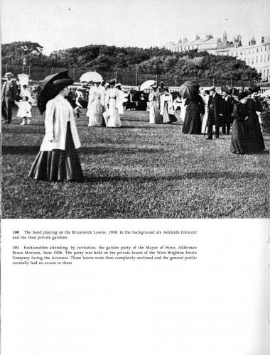 from victorian and edwardian brighton - hove lawns 1908