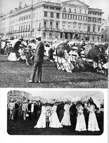 from victorian and edwardian brighton - hove lawns 1908 and mayors party
